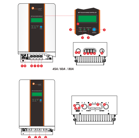 High Quality MPPT Charge Controller With LCD Screen