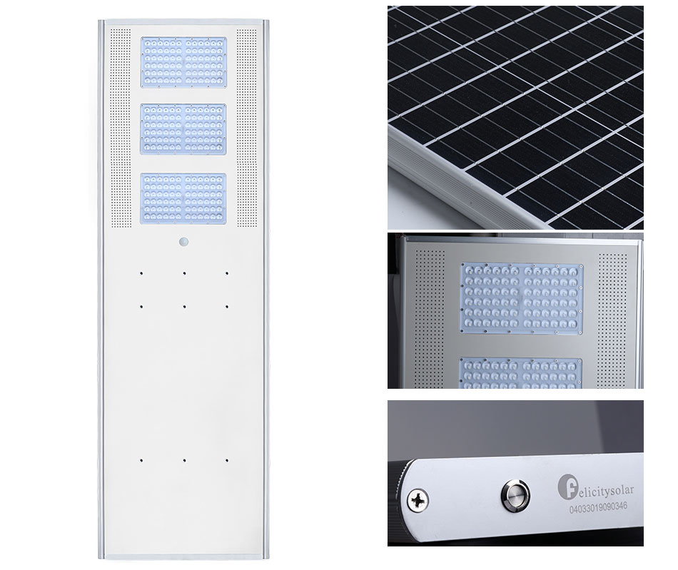 Cheap IP5 Outdoor All In One Module Motion Garden Solar Led Street Light With Pole 100 Watt