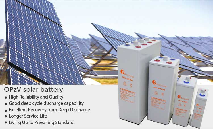 Tubular Plate Battery Long Life Opzv 2V1500Ah Tubular Plate Gel Electrolyte Solar Battery