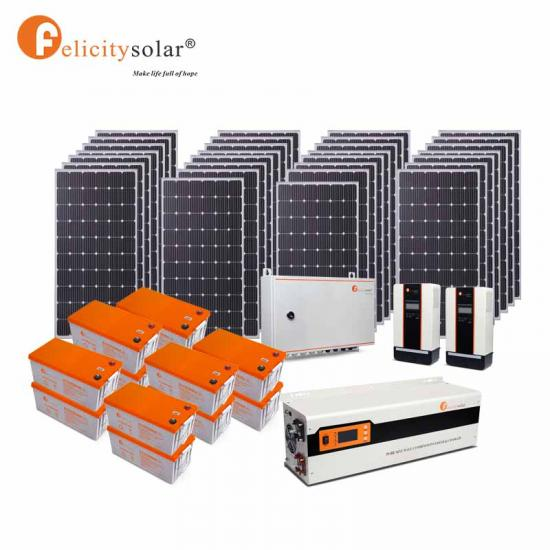 Tuv Ce Iso Poly Aluminum Alloy 260W 7.5Kw Off Grid Home Solar Power System